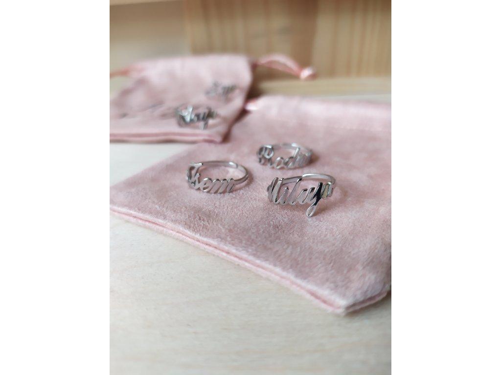 Prsten - stříbrný