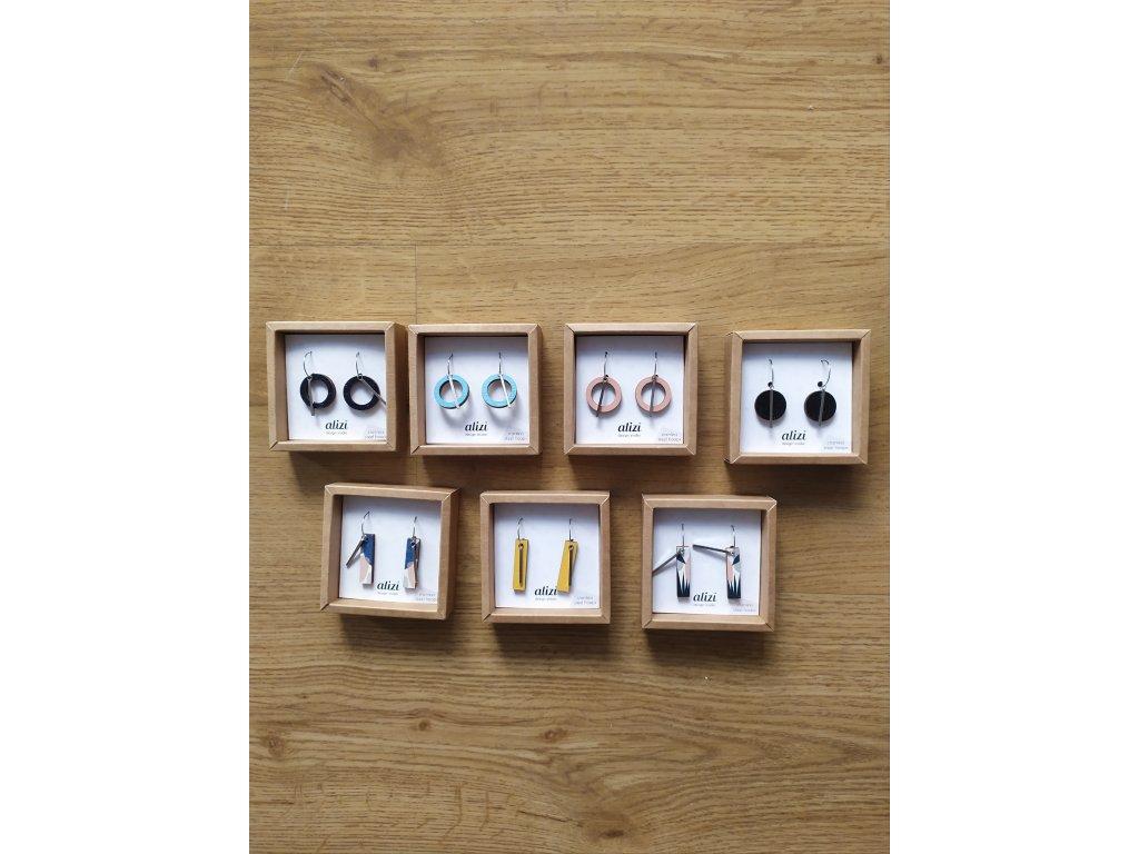 Hoops + box (střední naušnice + velké naušnice))