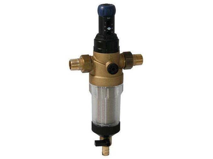 """Filtr SYR s manuální údržbou kartuše DFR 3/4"""" s regulátorem tlaku"""