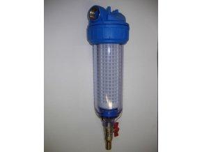 """Filtr na vodu OVV 3P 9""""3/4 DN 1"""" s ventilem pro odkalení"""