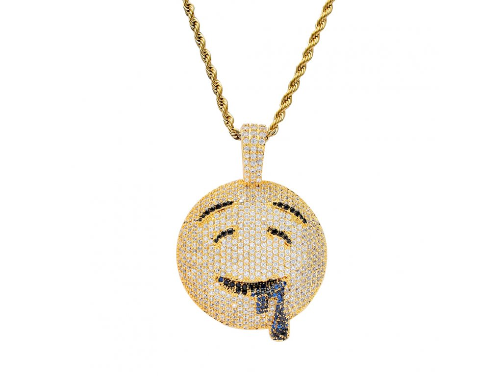BLING BLING CZ jewelry Cartoon Emoji Pendant