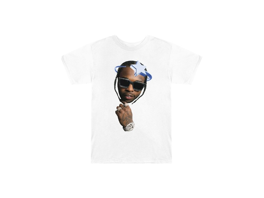 Pop Smoke x Vlone Halo T Shirt White