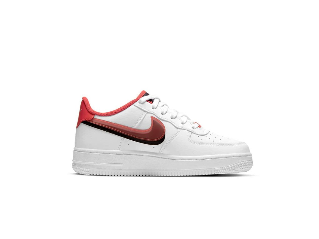 Nike 'Air Force 1' - Dvojitý swoosh červená/černá