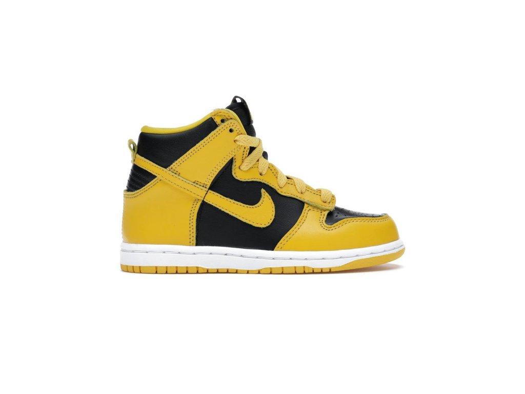Nike Dunk High Black Varsity Maize PS