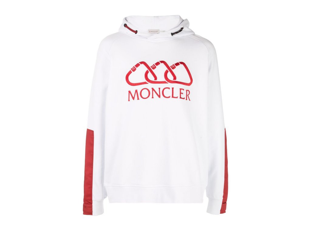 MONCLER Logo Hoodie White