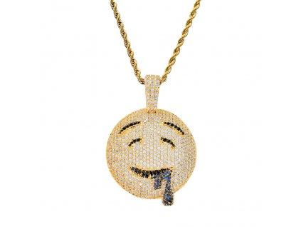 BLING BLING CZ jewelry Cartoon Emoji Pendant