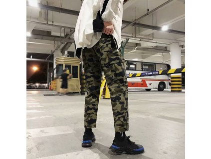Wholesale Hip Hop Reflective Panel Camo Cargo (2)