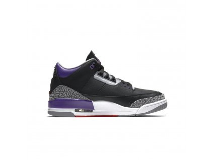 Jordan 3 Retro Black Court Purple
