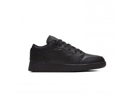 Jordan 1 Low Tumbled Leather Black GS