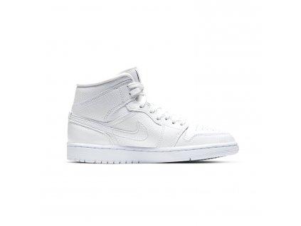 Jordan 1 Mid White Snakeskin