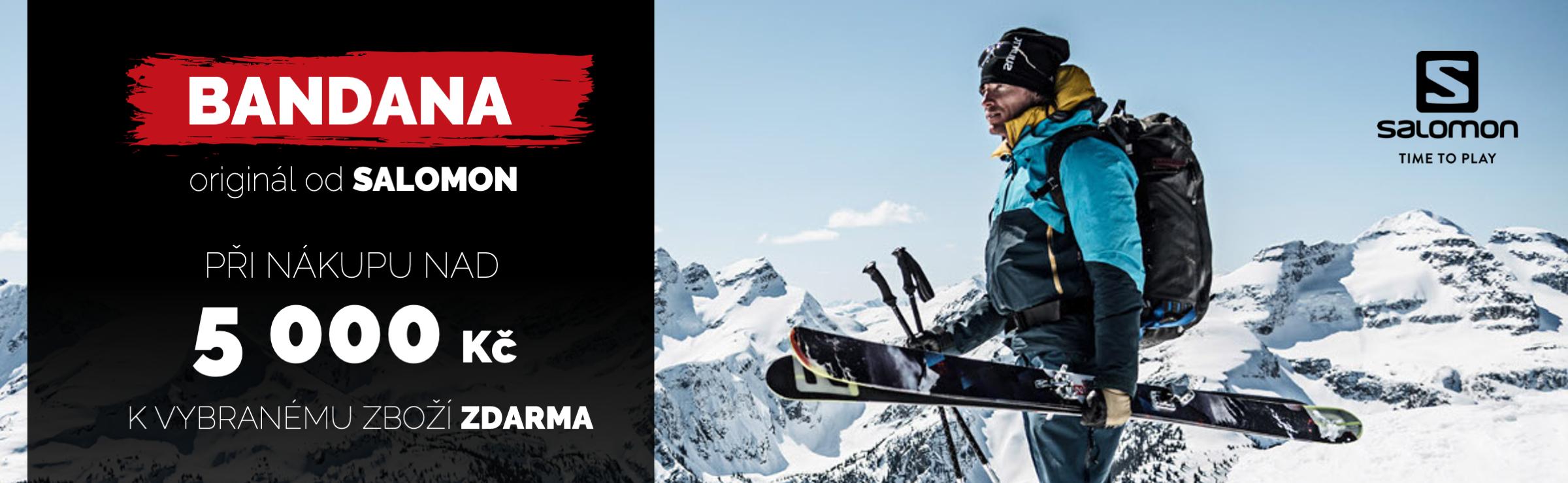 Bandana salomon k nákupu lyžařského vybavení nad 5000,-
