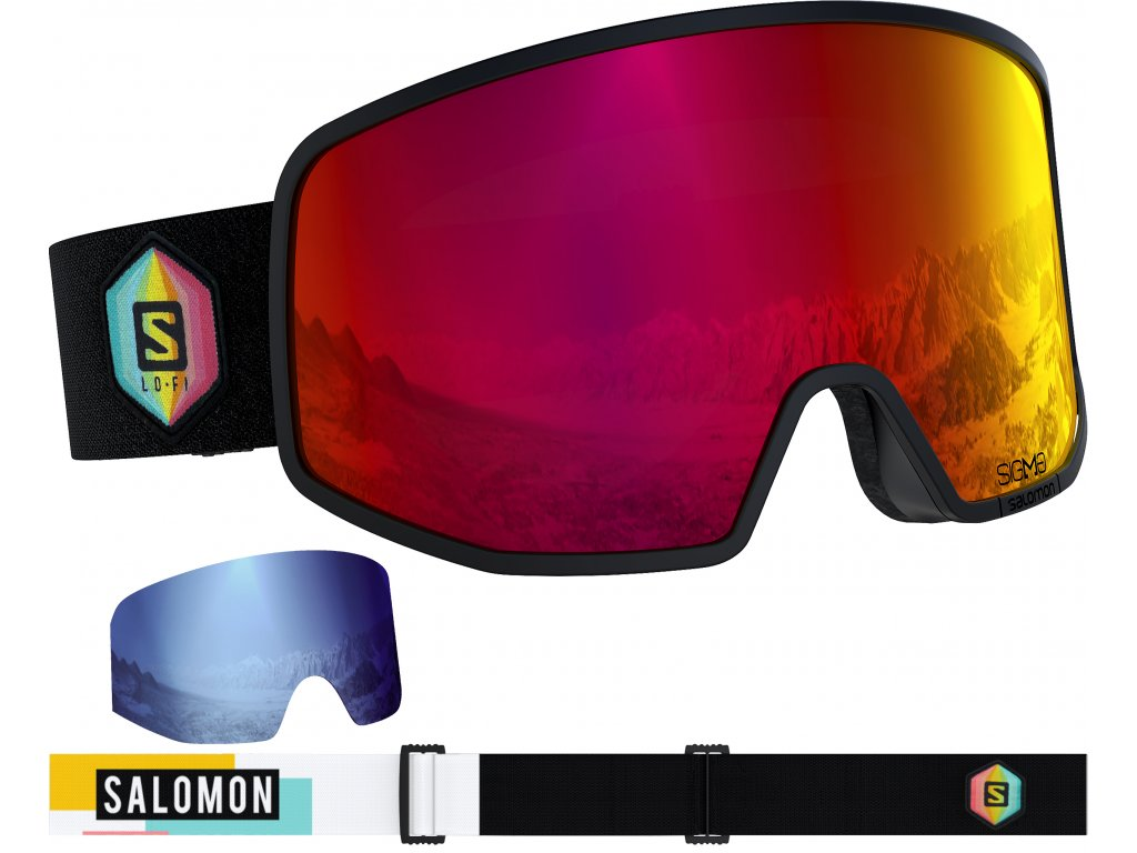 Brýle Salomon LO FI Sigma Bk/Safran/Uni Poppy Red 19/20