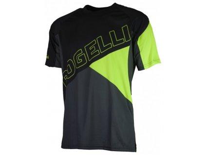 dres krátký pánský Rogelli ADVENTURE černo/fluoritový