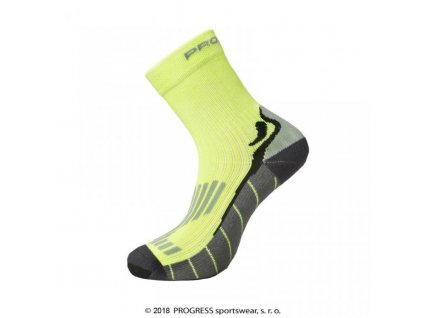 ponožky Progress RUNNING HIGH SOX fluoritové