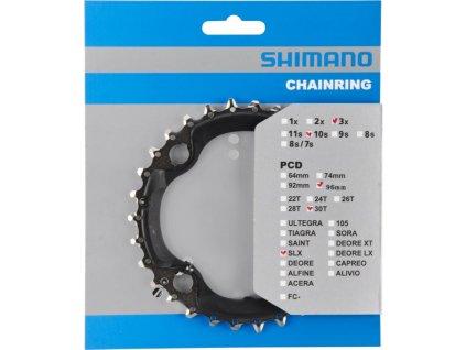 převodník 30z Shimano SLX FC-M672 3x10 4 díry r.96