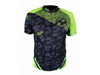 dres krátký pánský HAVEN SINGLETRAIL černo/zelený
