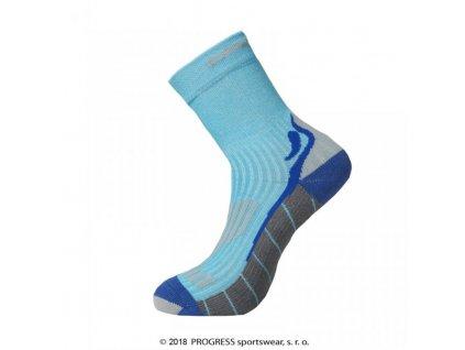 ponožky Progress RUNNING HIGH SOX tyrkysové