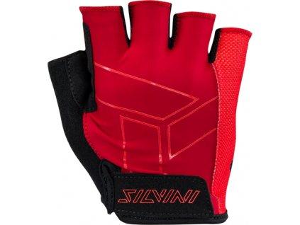 Pánské cyklo rukavice Silvini Liro  merlot-red