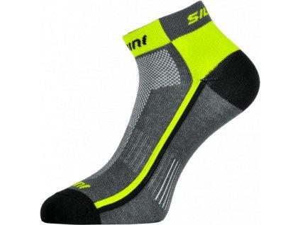 Kotníčkové ponožky Silvini Plima UA622 charcoal/neon