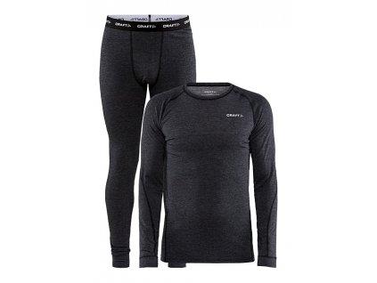 Funkční SET Craft Core Wool Merino M black melang