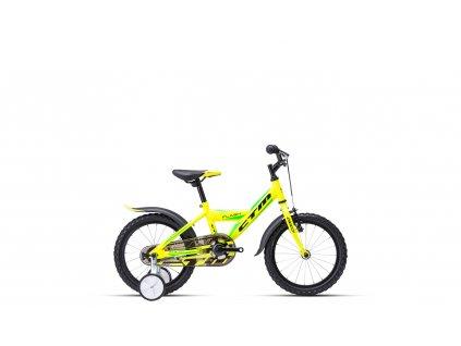 """Dětské kolo CTM Flash 16"""" žlutá/zelená 2021"""