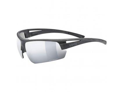 brýle UVEX Sportstyle Ocean Polavision černo/stříbrné