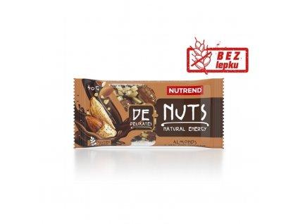 tyčinka Nutrend DeNuts mandle v hořké čokoládě 40g