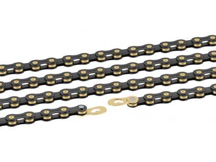 řetěz Connex 9sB 9 st. 114 článků černý/zlatý