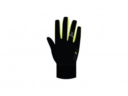 Zimní unisex rukavice Silvini Montasio black/lime