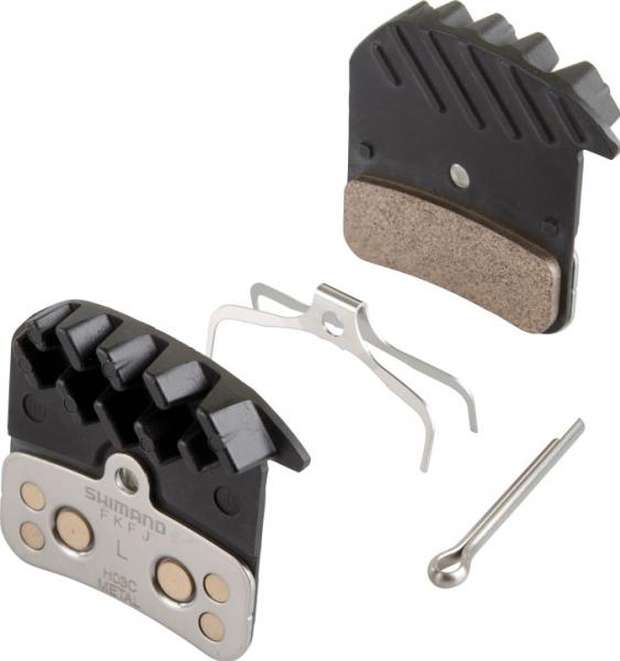 Shimano-servis brzdové destičky Shimano SAINT, ZEE H03C kovové original balení