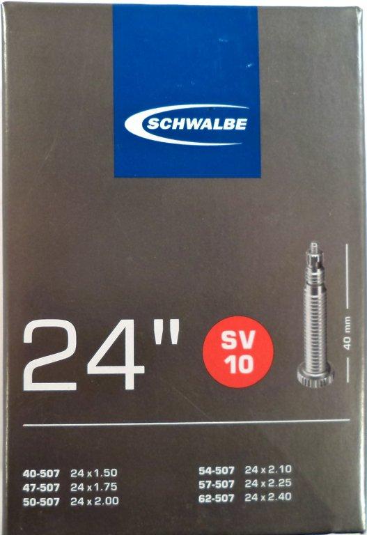 """duše SCHWALBE SV10 24""""x1.50-2.40 (40/62-507) FV/40mm"""