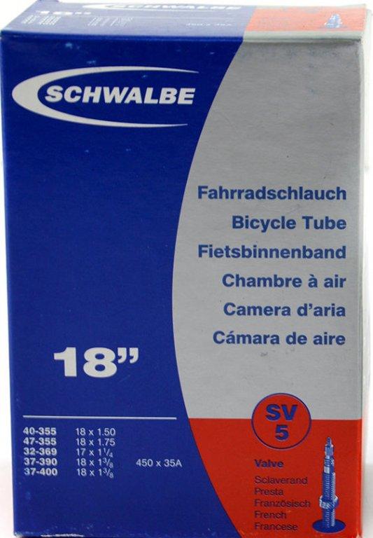 """duše SCHWALBE SV5 18""""x1.50-1 3/8 (40-355/37-400) FV/40mm"""