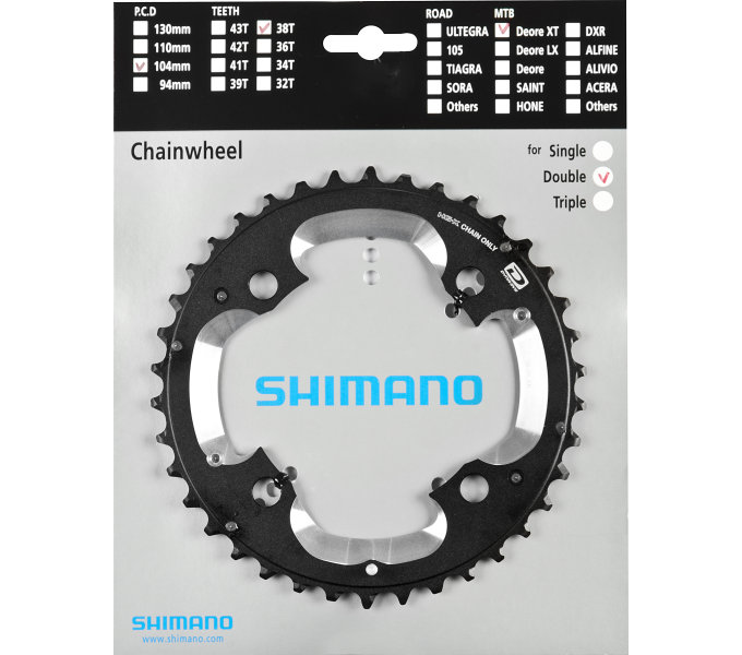 Shimano-servis převodník 38z Shimano XT FC-M785 2x10 4 díry 38z (AK)