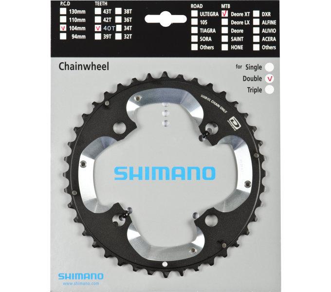 Shimano-servis převodník 40z Shimano XT FC-M785 2x10 4 díry