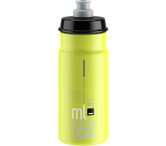 lahev ELITE Jet Yellow fluo černé logo, 550 ml