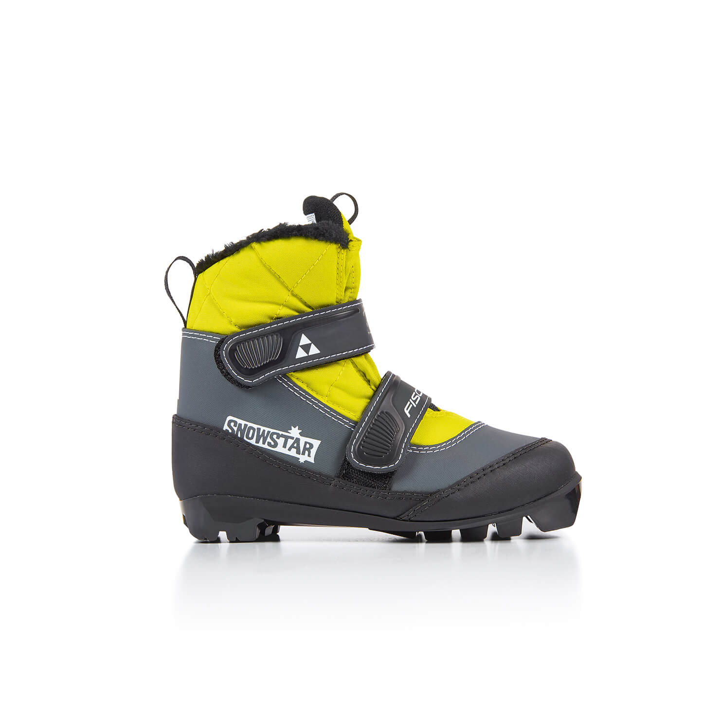 Boty na běžky Fischer SNOWSTAR BLACK YELLOW 20/21 Barva: černá/žlutá, Velikost: 26