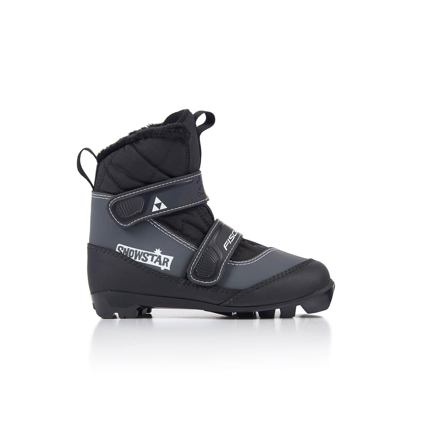Boty na běžky Fischer SNOWSTAR BLACK 20/21 Barva: černá, Velikost: 26