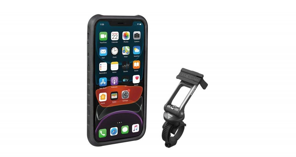 obal na mobil TOPEAK Ridecase pro iPhone11 černo/šedý