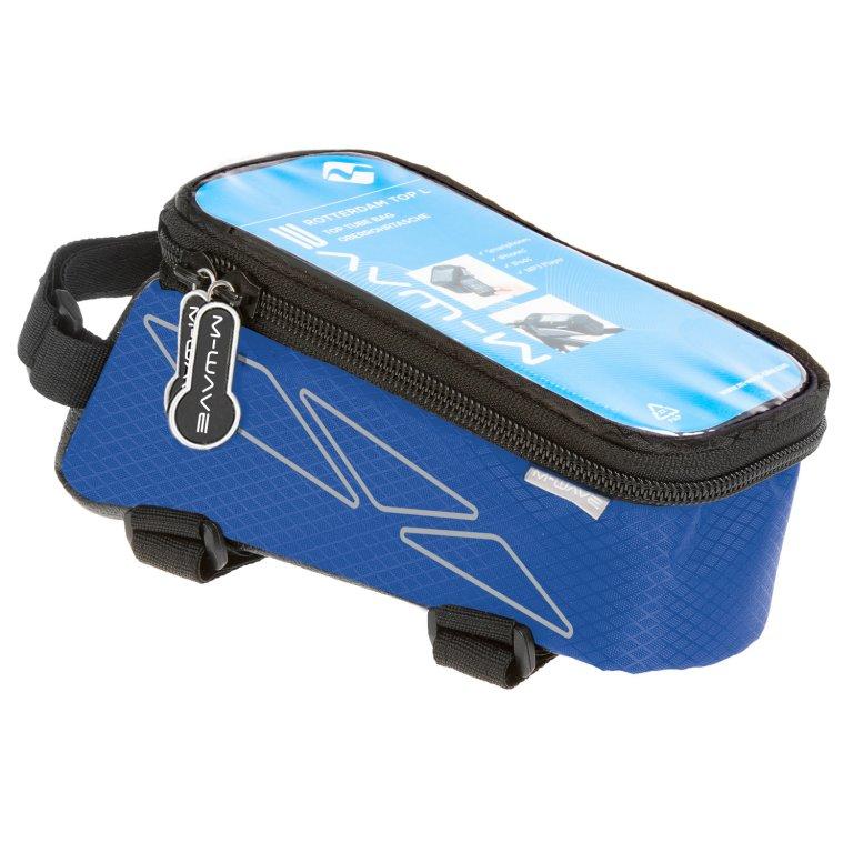 brašna M-WAVE přední na mobil L modrá