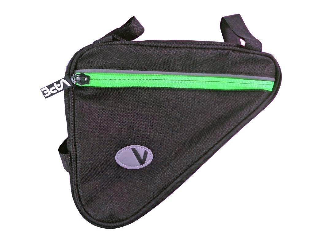 brašna Vape rámová malá 3 kapsy neon zelený zip