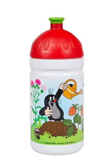 Levně lahev R&B Krtek a jahody 500ml červené