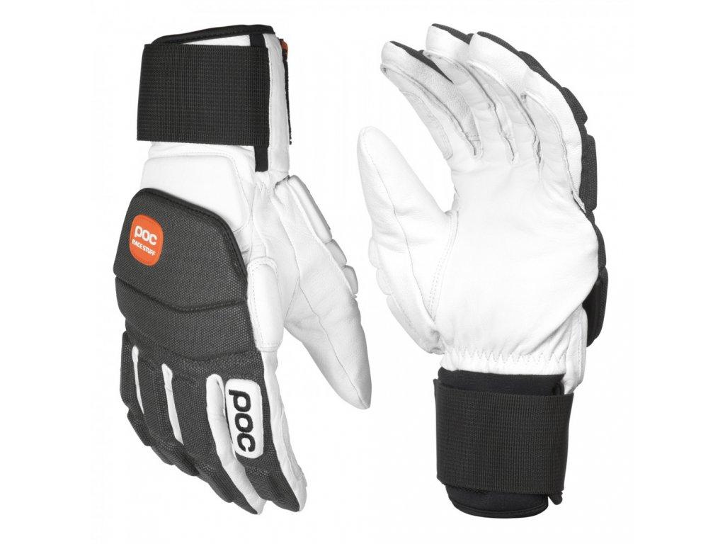 poc super palm comp hydrogen white ski gloves