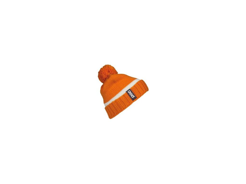 1427 1 poc pompom beanie corp orange