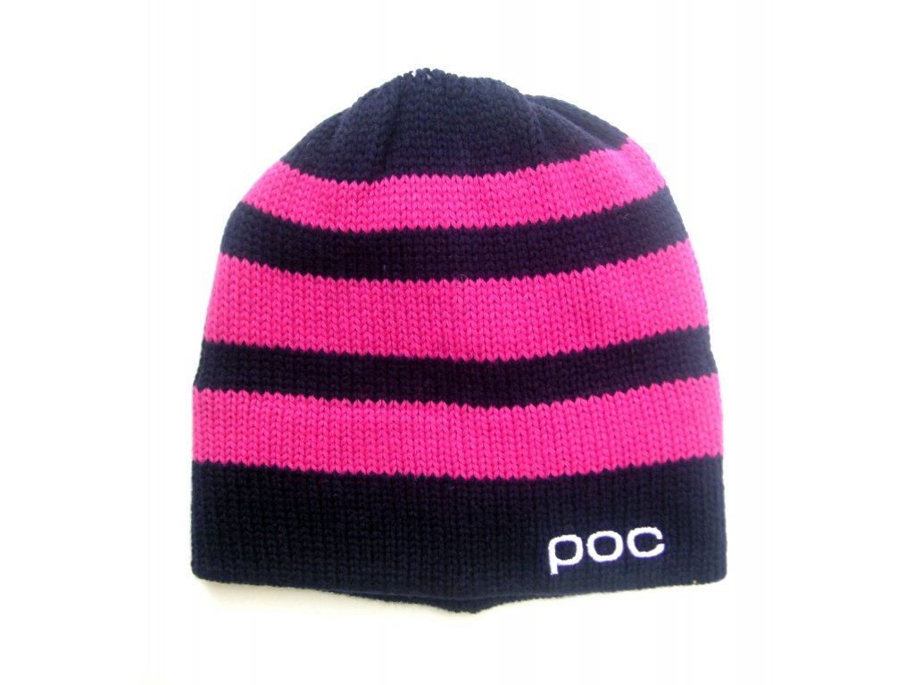 1447 1 poc striped beanie dubnium blue chromium pink