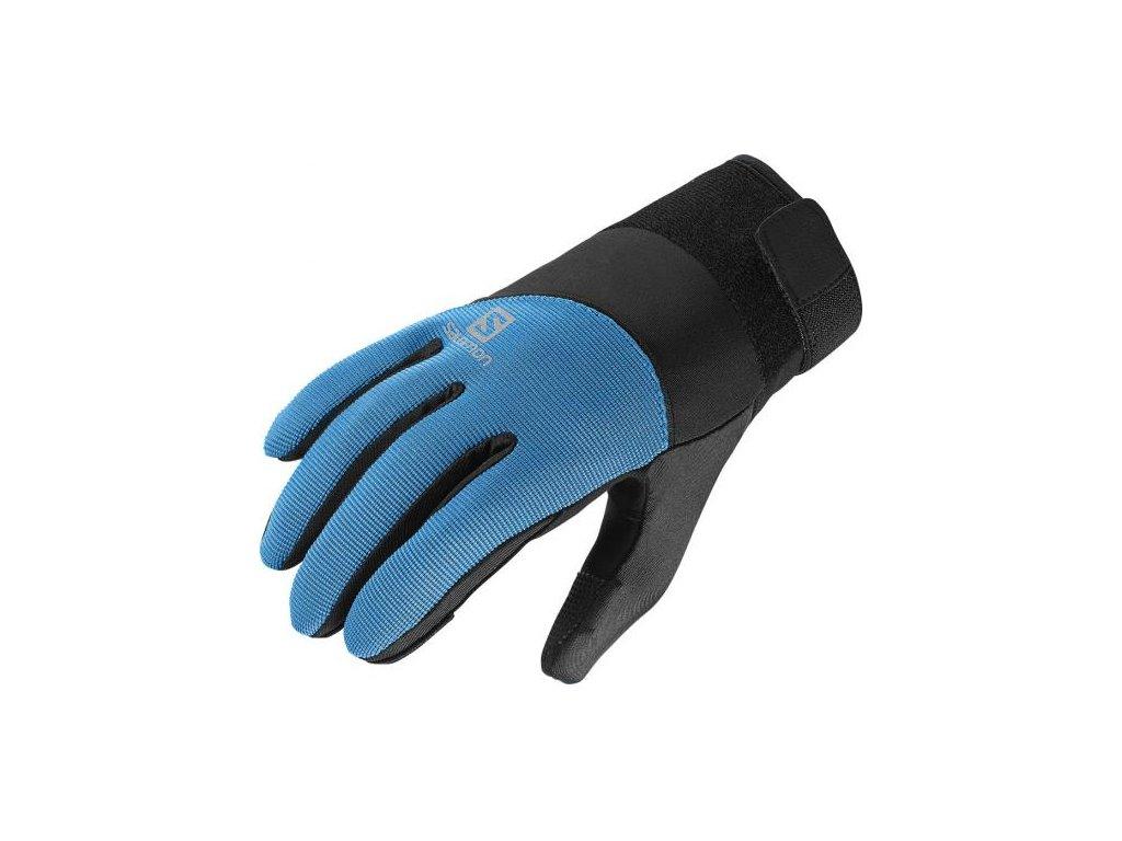 Salomon Thermo Glove W bk/blue line 366160 (Velikost 8, Barva Blue)