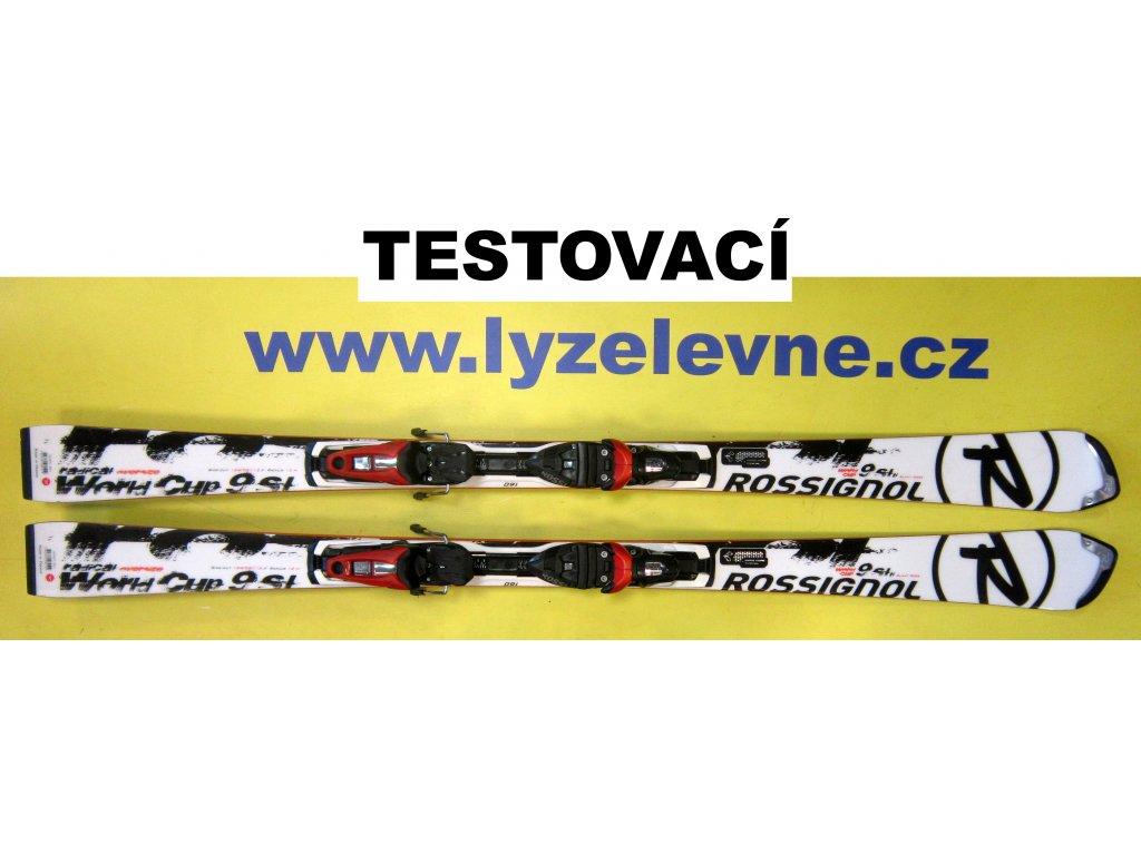 Rossignol Worldcup Radical 9 SL 160 cm + Axium 120 - Použité (Délka 160)
