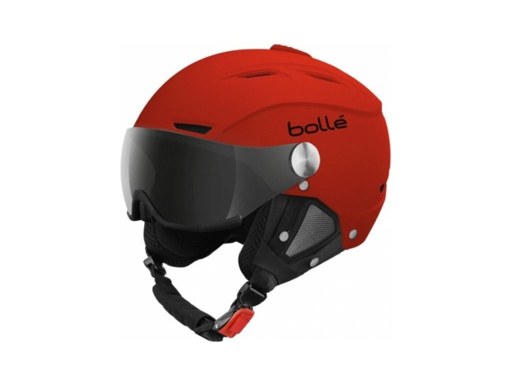 Bolle Backline Visor Soft Red + 1 LEMON VISOR 15/16 (Velikost 59-61 cm)