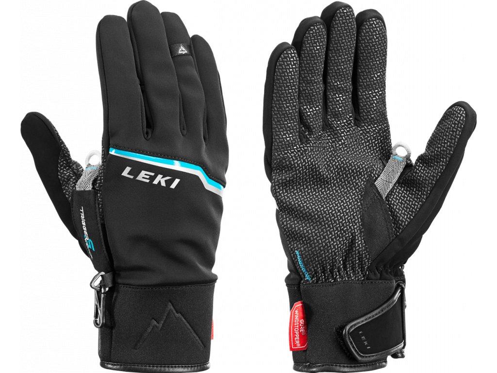 Leki Tour Precision Black-Chrome-Cyan 636773301 16/17 (Velikost 9,5, Barva Black)