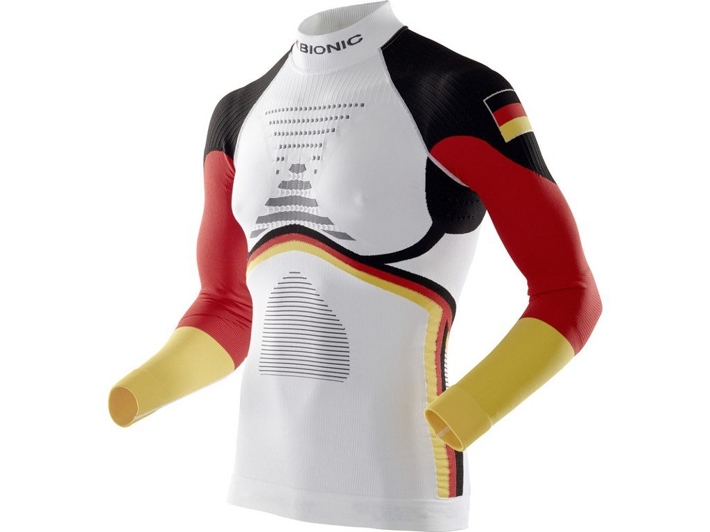 X-Bionic Energy Accumulator EVO Patriot Edition Shirt Long Sleeves Turtle Neck - Germany 020322 16/17 (Velikost XXL)