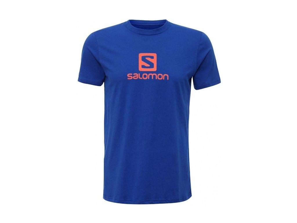 Tričko - Salomon Logo SS Cotton TEE M 382139 - Blue 16/17 (Velikost XL)